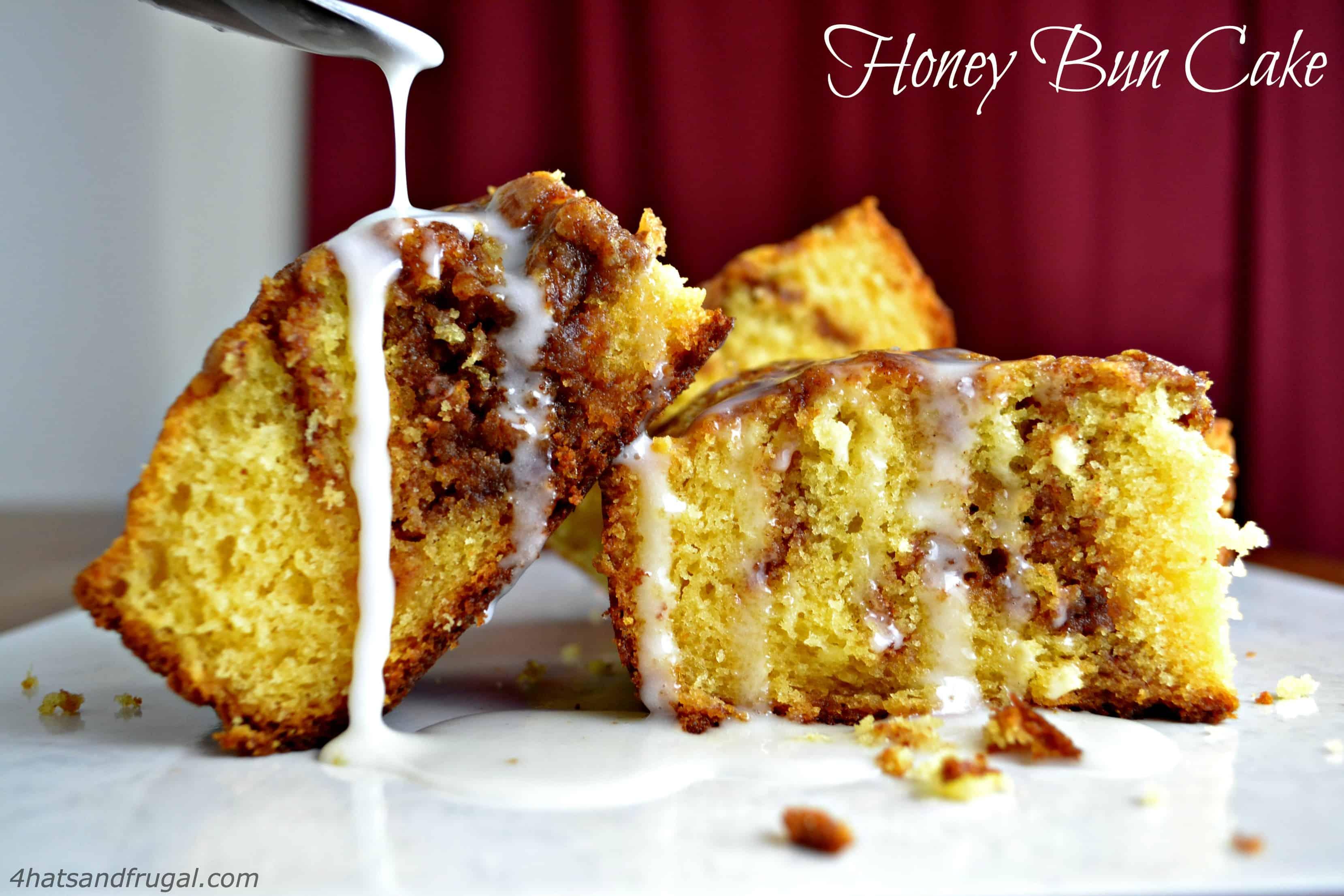 Honey Bun Cake Made With Cream Cheese
