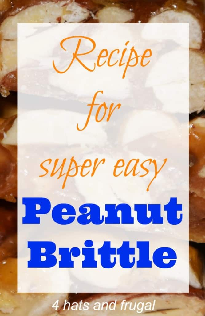 This recipe for easy peanut brittle is a great last minute holiday gift for family and friends.