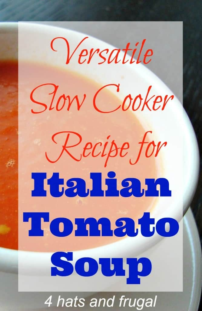 Slow Cooker Italian Tomato Soup
