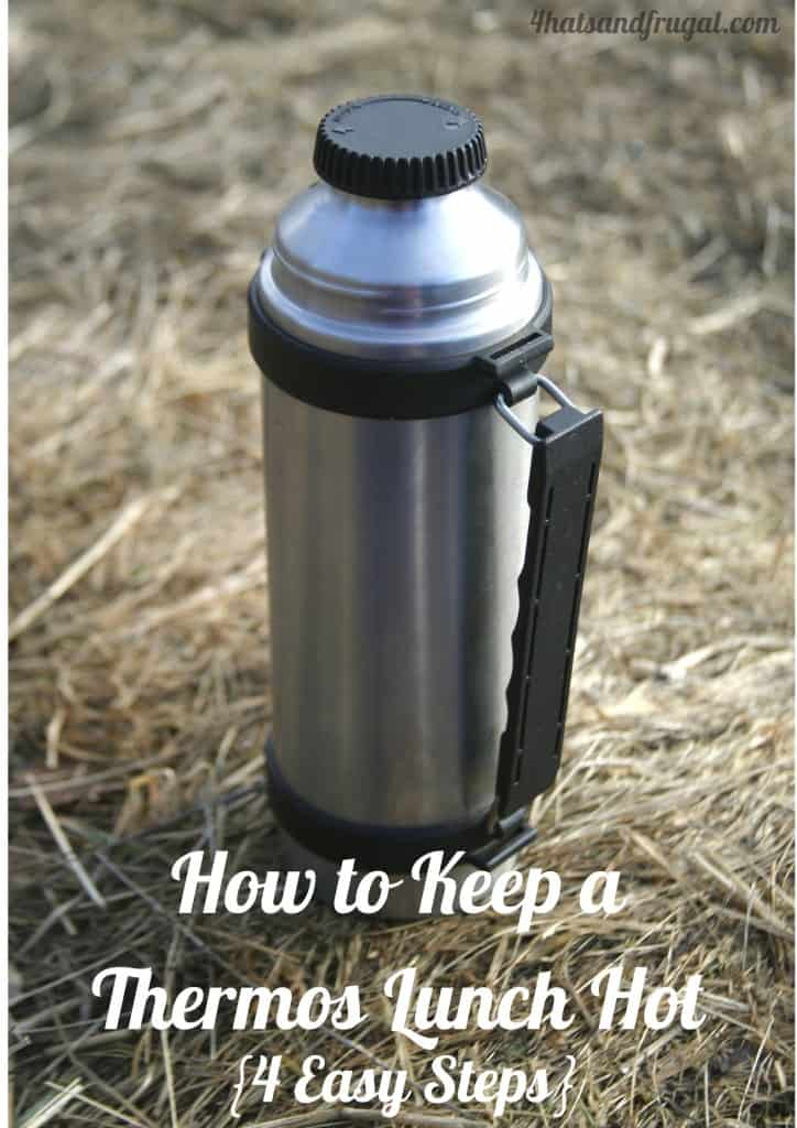 Here is the proper way to use send a thermos lunch to school with your kids. It's a great tip to keep the food hot all day!
