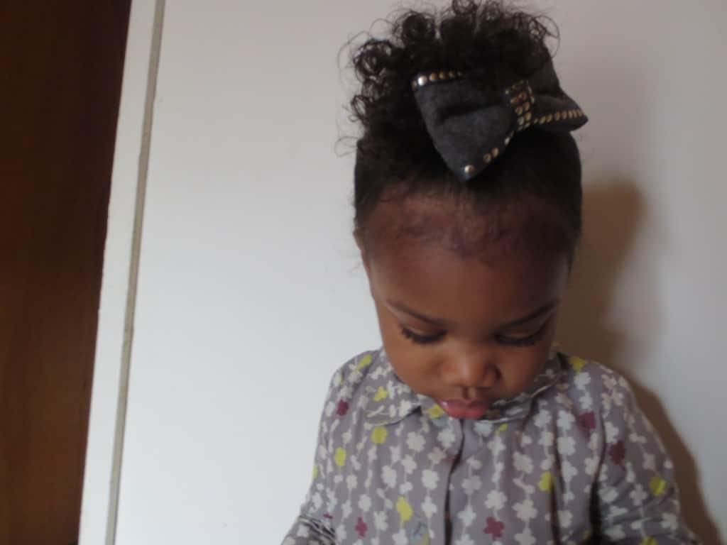 hair bow from mod cloth