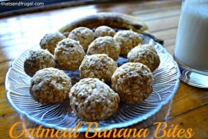 oatmeal banana bites, quick snack for kids, no bake