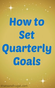 how to set quarterly goals