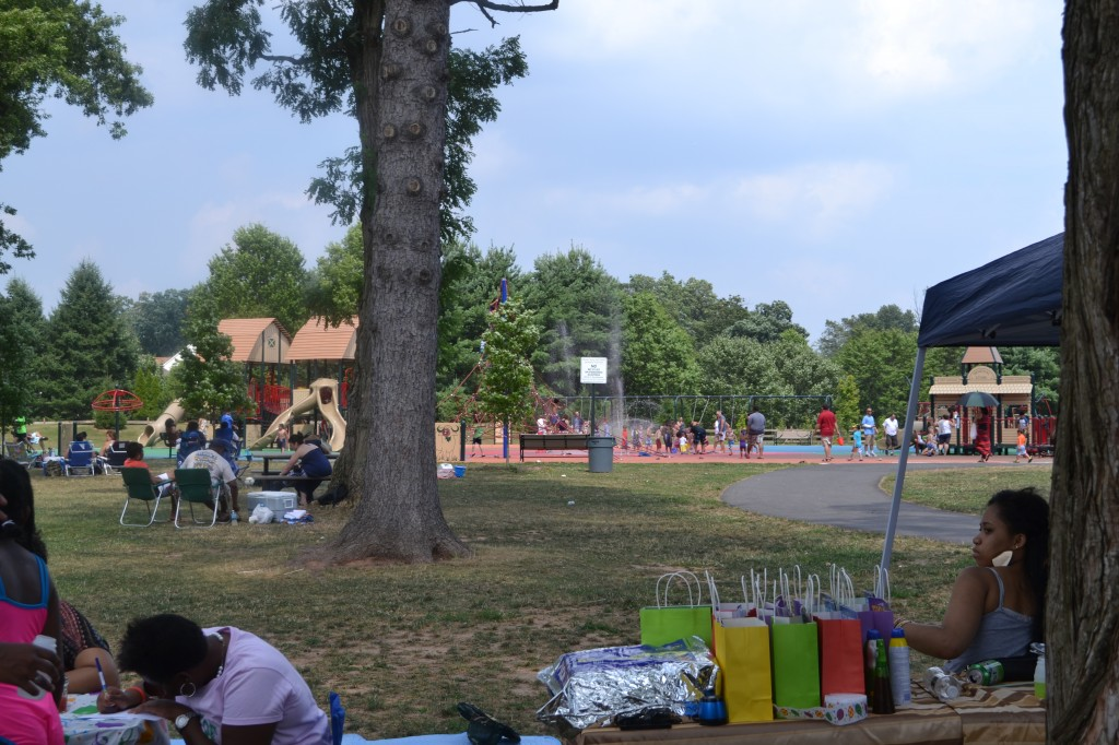 birthday party at a splash park
