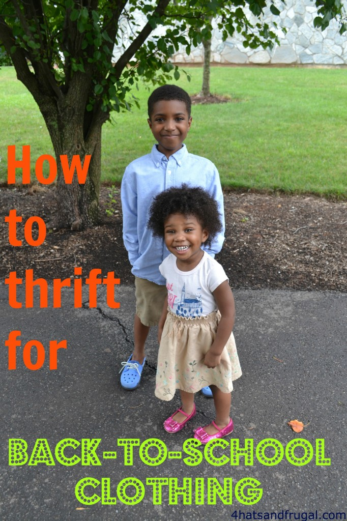 A great tutorial on how to thrift for back-to-school clothing. Get it all done in 6 simple steps.