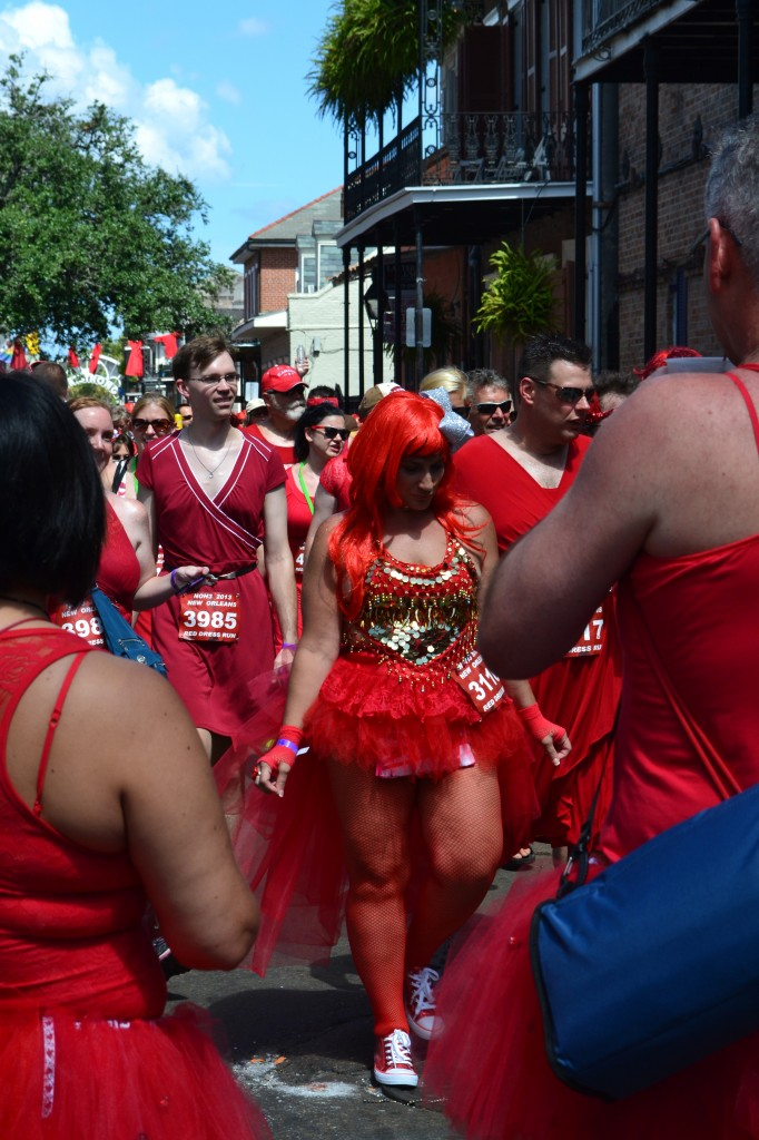 creative costume during New Orleans 2013 Red Dress Run