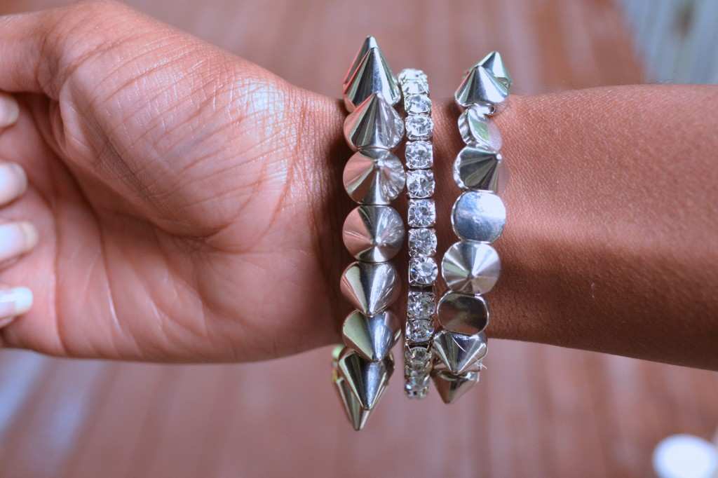 Studded and blinged out arm candy #ThisIsStyle #shop #cbias