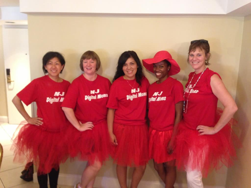 NJ Digital Moms at the New Orleans Red Dress Run