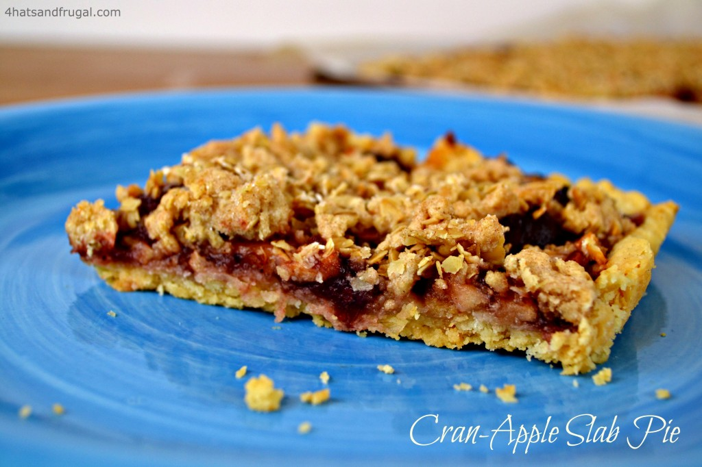Cran-apple slab pie | 4 Hats and Frugal