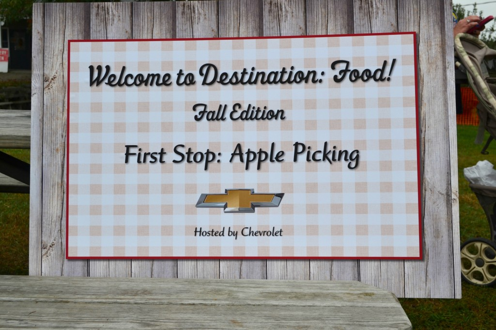 Apple picking with Chevy and Destination: Food