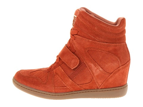 tangerine sneaker wedges from Sketchers