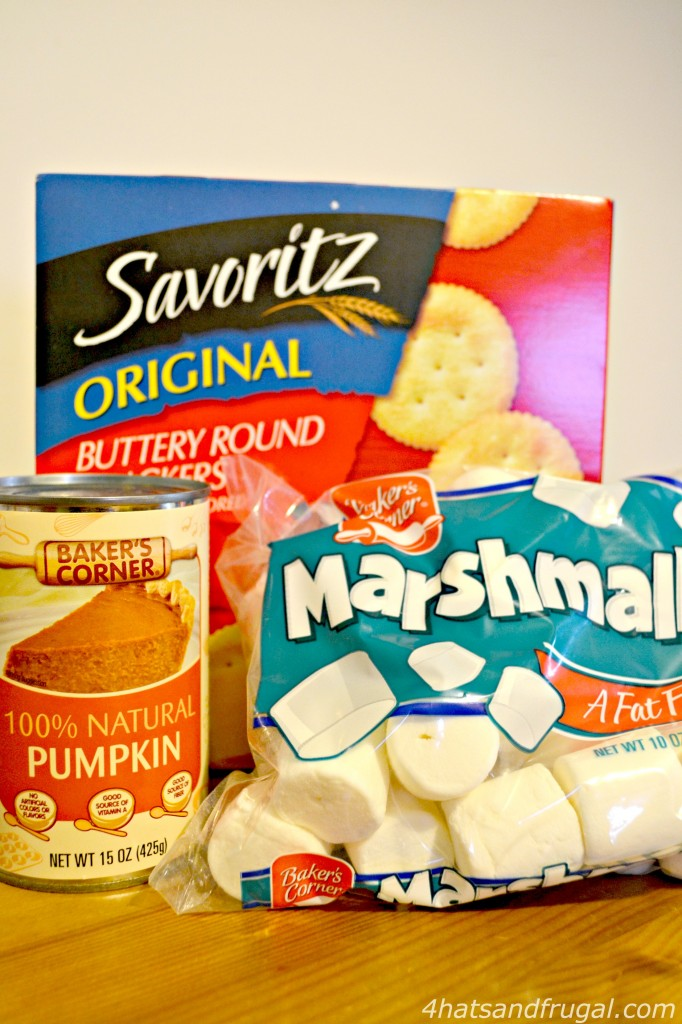 Pumpkin Spice Ritz Bars - ingredients