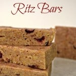 Cranberry Ritz Bars