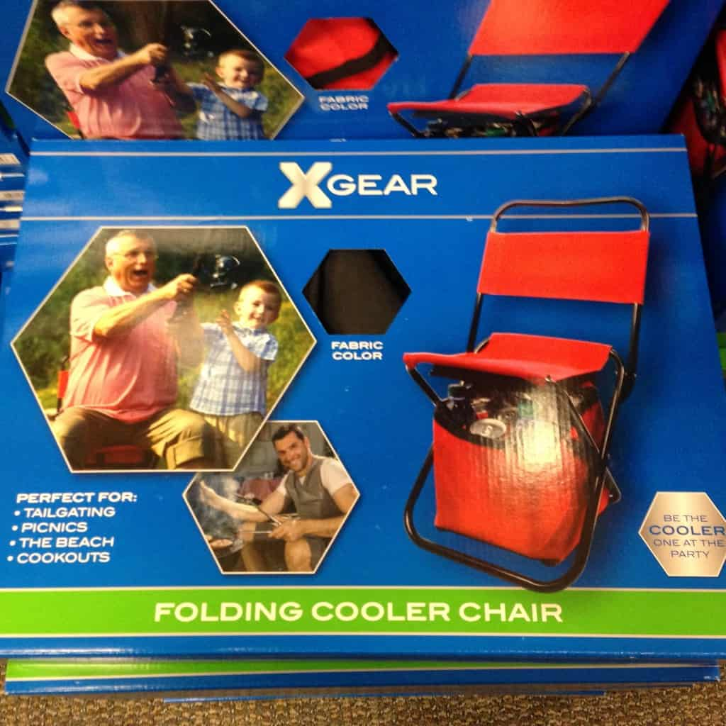 foldable chair with cooler for tailgaters
