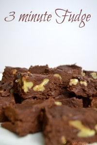 3 minute fudge recipe made in the microwave
