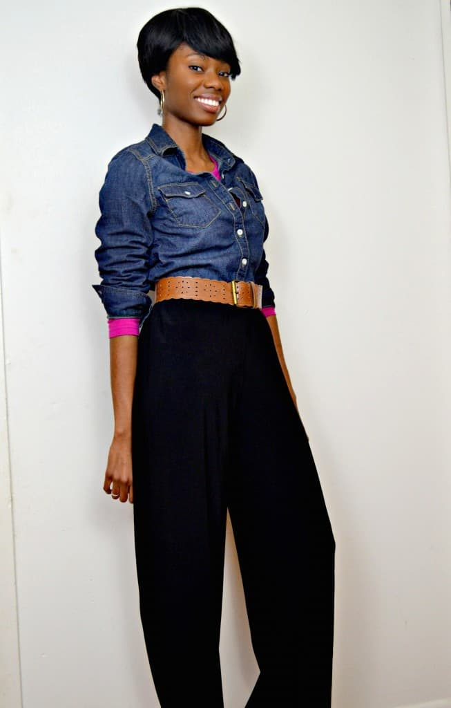 spring fashion look for less featuring wide leg trousers #ThisIsStyle #cbias #shop