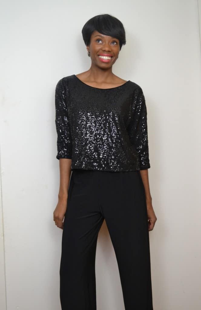 Wide leg trousers paired with sparkly top #ThisIsStyle #cbias #shop