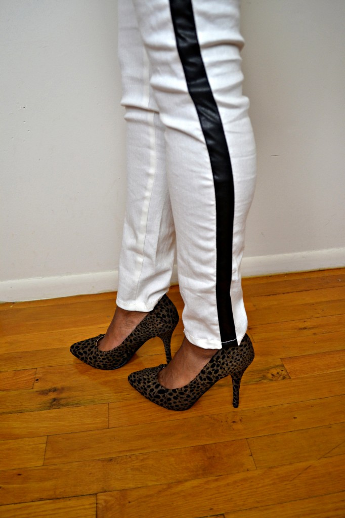 white tuxedo pants with a leopard heel #ThisIsStyle #cbias #shop