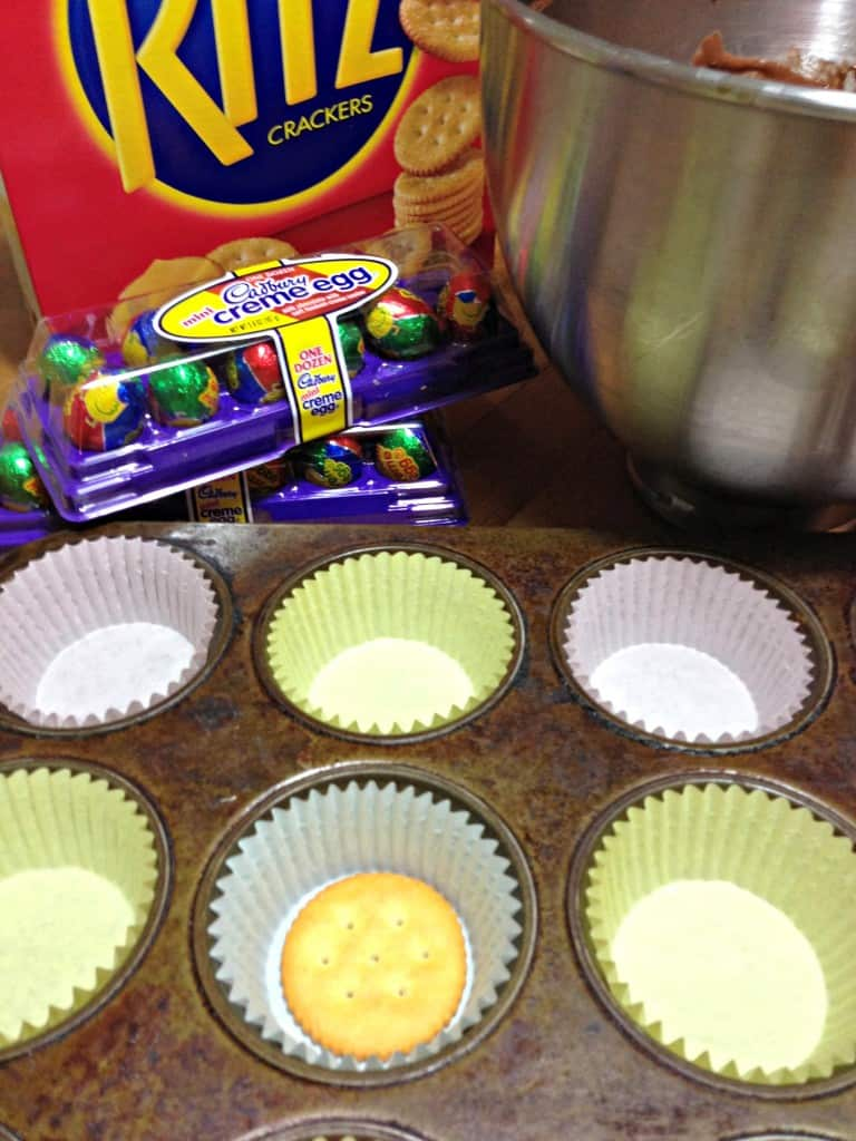 easter cupcakes, cadbury creme eggs, chocolate cupcakes