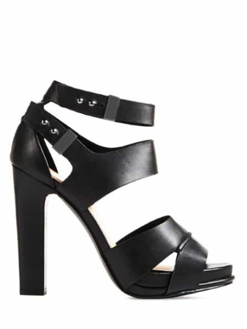 faux leather sandals, sturdy heel sandals. spring shoe trends