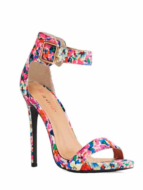 floral sandals, watercolor sandals. spring shoe trends