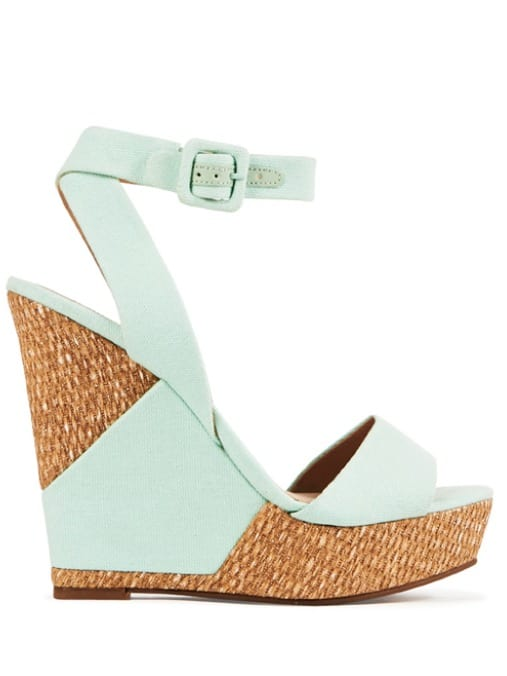 mint wedges, spring shoe trends