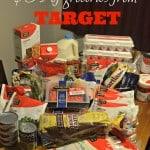 64 Dollar Grocery Budget – Target Breakdown
