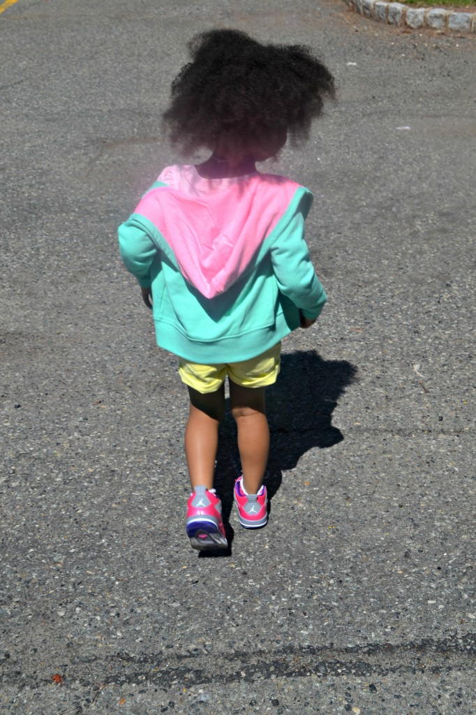 Pastel preschool fashion outfits created by a 3 year old from Target clothing