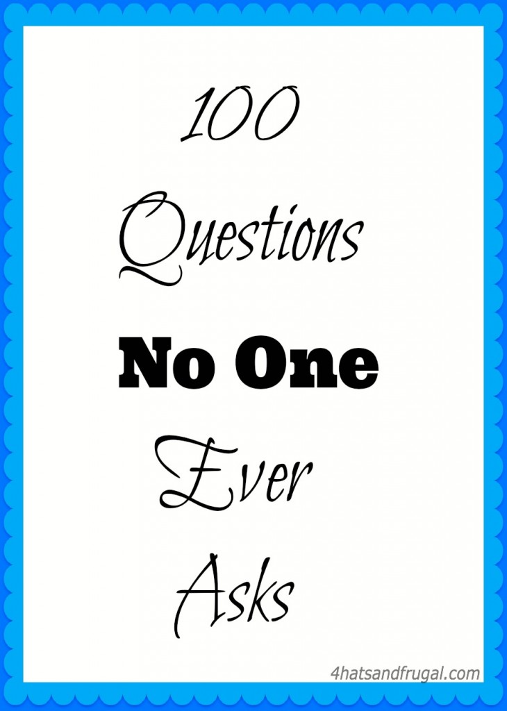 The 100 questions no one ever asks video tag is hilarious and fun. Try it out!
