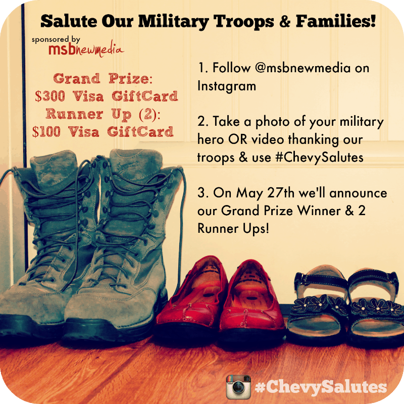 Chevy is celebrating Military Appreciation Month through the #ChevySalutes campaign