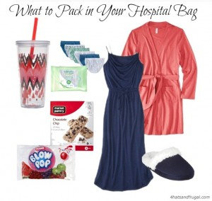 A list of items every expectant mom should pack into her hospital bag.