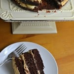 Chocolate Sour Cream Cake (with Peanut Butter Frosting)