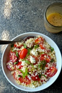 This recipe for mediterranean couscous salad is frugal, easy and great all year round!