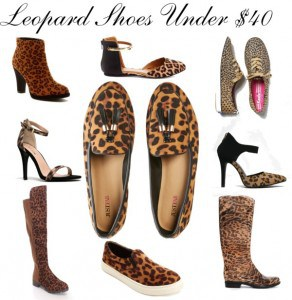 Check out this list of leopard print shoes and boots for $40 and under!