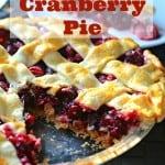 Triple Cranberry Pie
