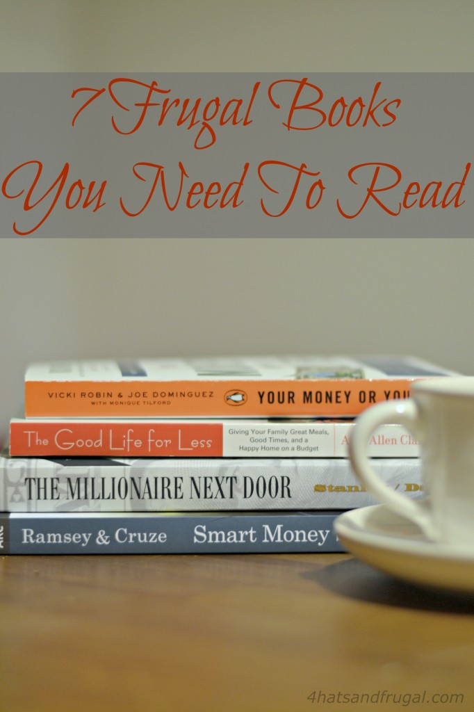 Looking to start living frugally? Here's a list of the 7 frugal books you need to read when you get started on your new life.