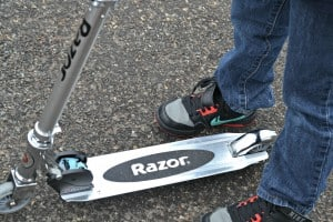The Razor A Kick Scooter is a hot active toy of the 2014 holiday season. Check out how much this 9 year old loved it.