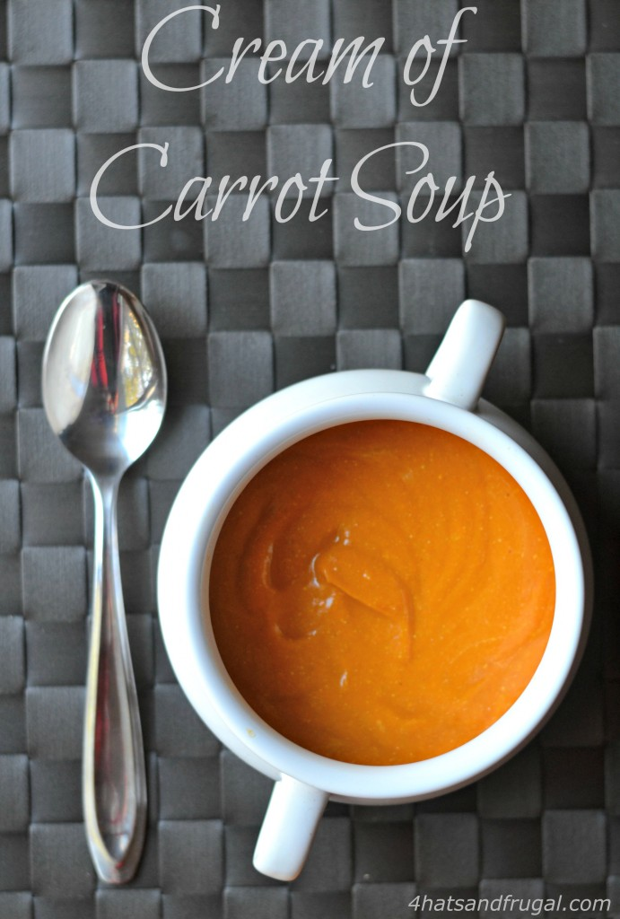 This cream of carrot soup has a homemade taste, but can be made in just 15 minutes! Check out the protein-packed secret ingredient.