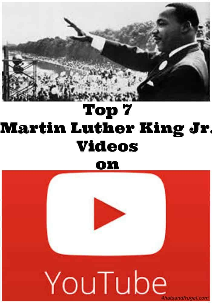 Looking for Martin Luther King Jr. YouTube videos for kids? Here are a list of 7 great ones, including a bonus video.