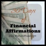 Letting Go | 30 Days of Financial Affirmations