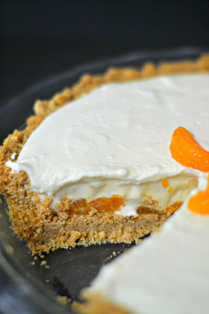 This no-bake recipe for Mandarin Orange Cheesecake is super simple and ...