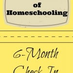 Our First Year of Homeschooling: 6 month check-in