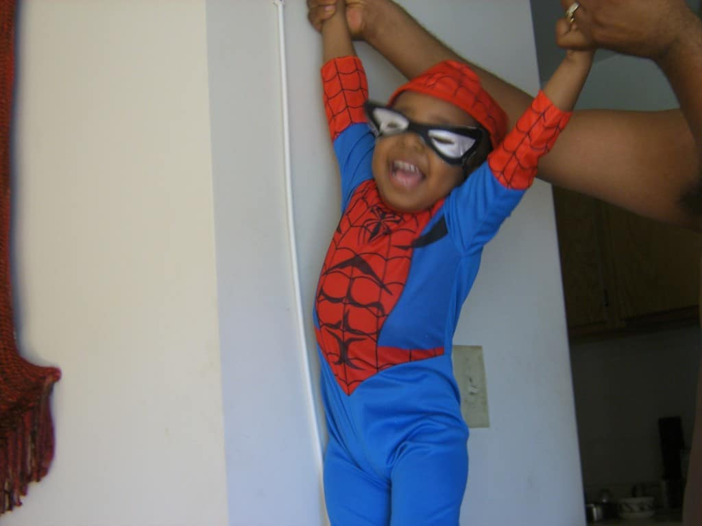 Sonny Boy as Spiderman via 2007