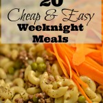 20 Cheap & Easy Weeknight Meals