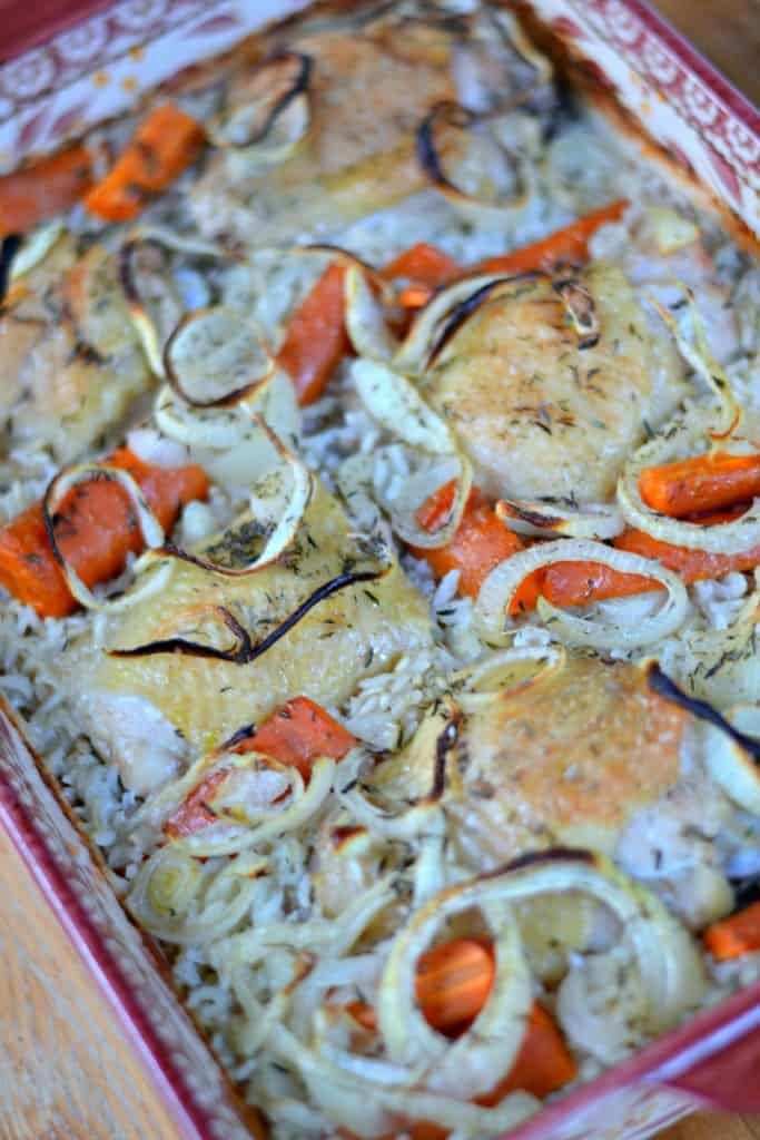 Looking for an easy meal that you can make all at once in an hour? This One Pan Chicken Dinner is fabulous!