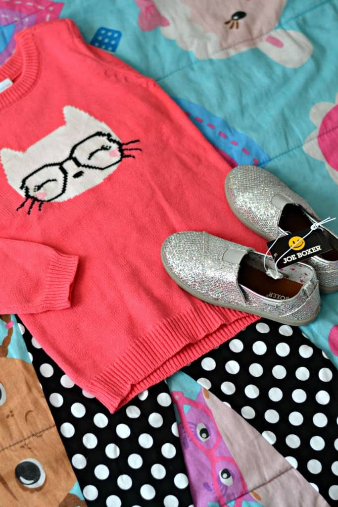 Check out what this little fashionista chose at Kmart for her first back-to-school shopping spree! #Ad