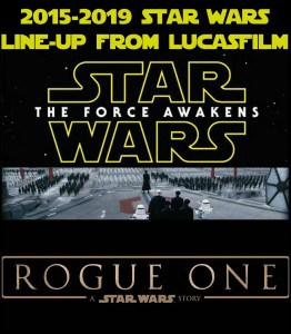 With less than a month left until Star Wars: The Force Awakens, let's talk about the 2015 to 2019 Star Wars movie line-up from Lucasfilm.