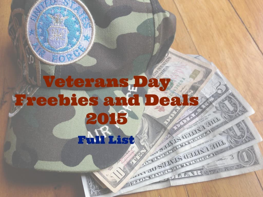 This is a full list of Veteran's Day freebies and deals, including a few charities and organizations that support the military community.