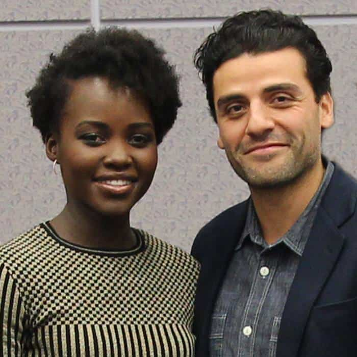 Epic Lupita Nyong'o and Oscar Isaac Interview - STAR WARS: THE FORCE AWAKENS #StarWarsEvent