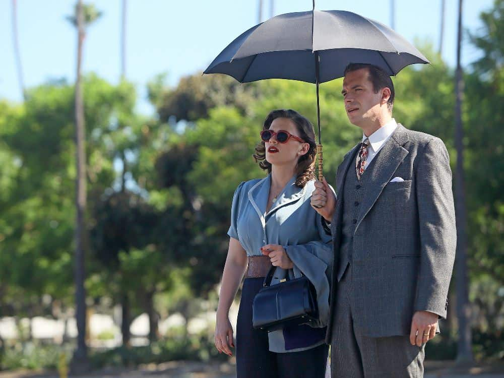 Behind The Scenes Of AGENT CARTER With Hayley Atwell and James D'Arcy 2